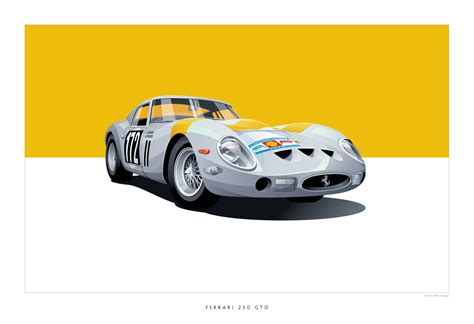 Cars Poster iconic racing car posters by arthur schening