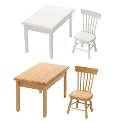 1 dollhouse chairs 1 12 dining table chair set dollhouse miniature furniture