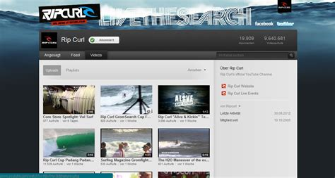 youtube kanal layout rip curl youtube kanal webdesign und typo3 blog aus duisburg