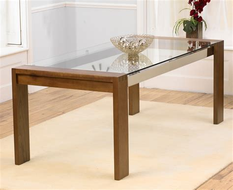 glass and walnut dining table rochelle walnut glass dining table oak furniture solutions