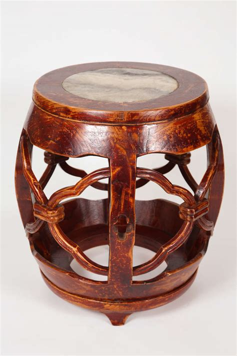 wood and marble garden stools at 1stdibs