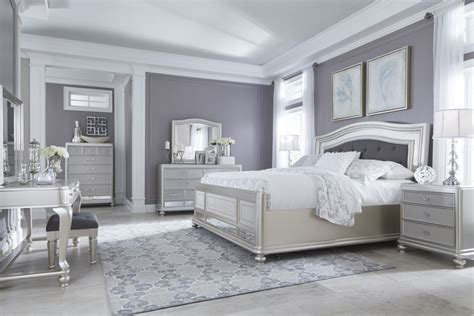 coralayne  pc bedroom dresser mirror queen uph panel bed