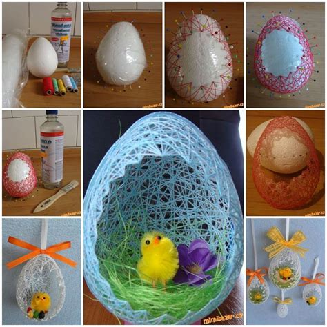diy easter basket diy egg shaped easter basket 2 ways beesdiy