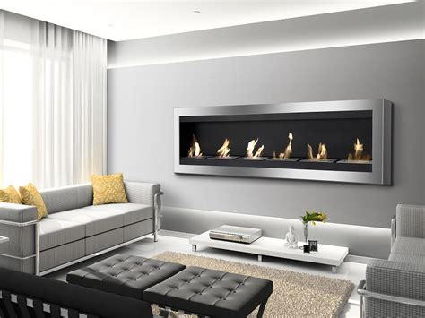 Ethanol Fireplace Pros And Cons by 82 75 Quot Ignis Maximum Wall Mounted Ventless Ethanol Fireplace