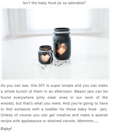 diy chalkboard jar candle centerpiece musely