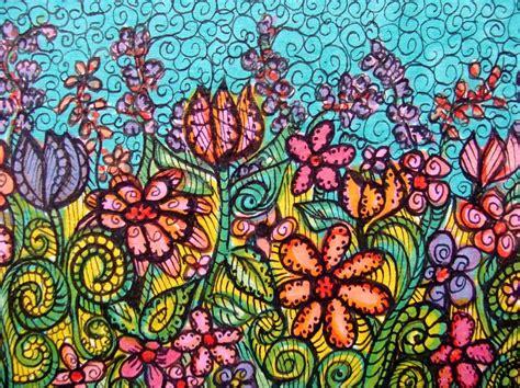 flower garden drawings imaginary garden drawing by gerri rowan