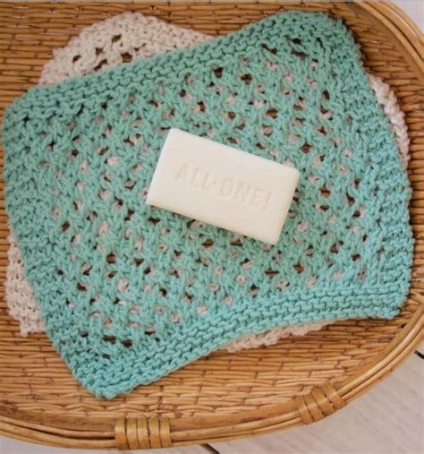 washcloth knitting patterns free seafoam knit washcloth pattern allfreeknitting