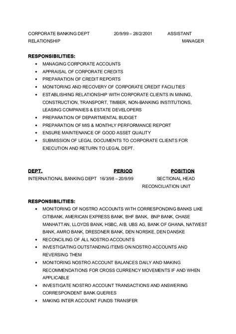 sectional reconciliation curriculum vitae yaw 2012