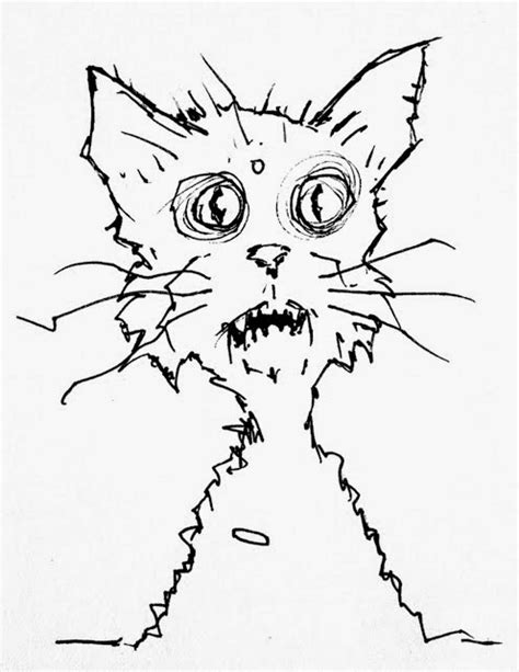 zombie cat coloring page walking dead zombie coloring pages
