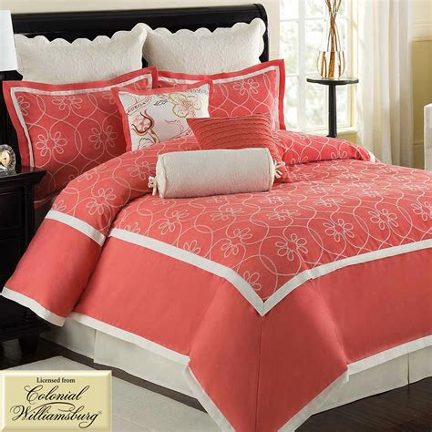 coral colored comforter set coral bed set trellis coral comforter and duvet cover