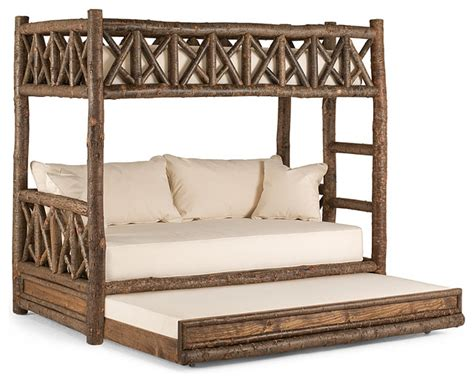 Futon Bunk Bed With Trundle by Rustic Bunk Bed With Trundle 4256 By La Lune Collection