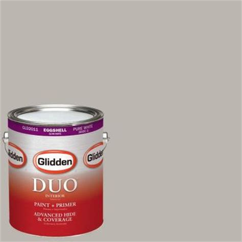 glidden duo 1 gal hdgcn50 candlestick silver eggshell interior paint with primer hdgcn50