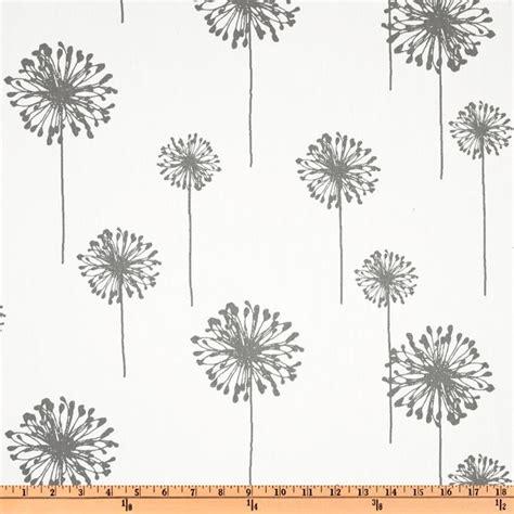 dandelion print curtains premier prints dandelion twill white storm discount