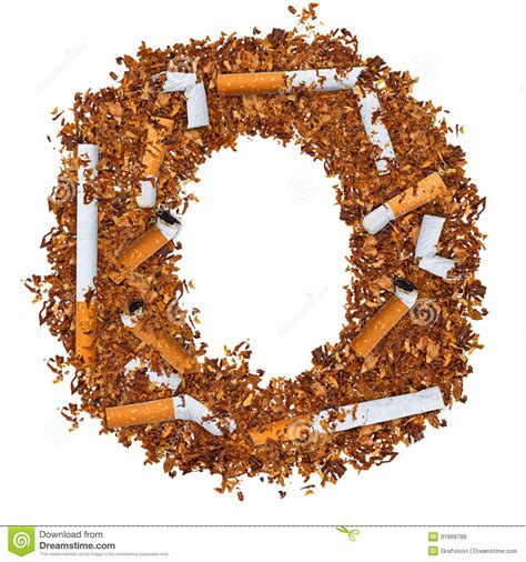 up letter to cigarettes letter o stock photo image of text alphabet