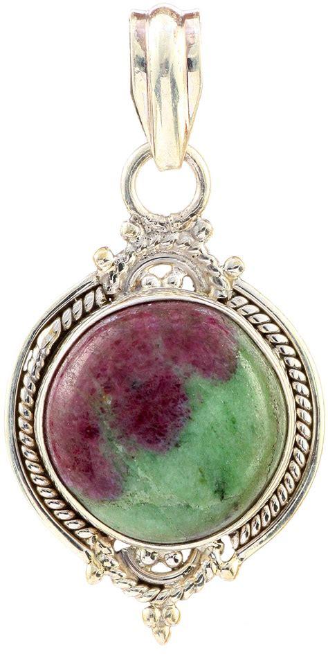 ruby zoisite pendant