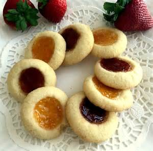 Eggless Jam Filled Thumbprint Cookies Recipe by Archana's Kitchen   Simple Recipes & Cooking Ideas