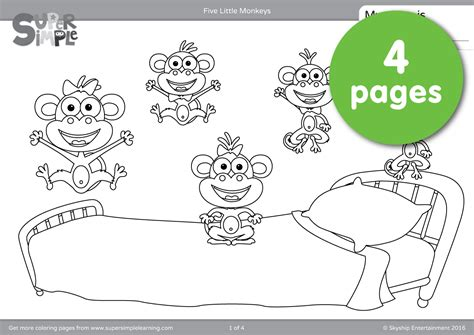 ten little monkeys coloring page ten in the bed colouring pages coloring page