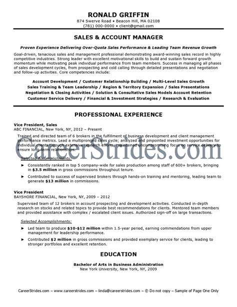 Resume Sles Accounting Manager 10 account manager resume sle template writing resume sle writing resume sle