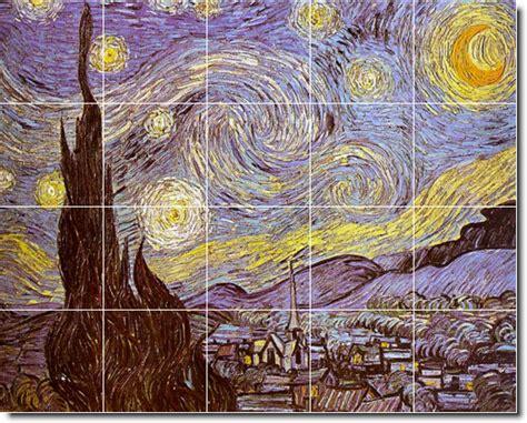 wordlesstech starry night by vincent van gogh vincent van gogh city ceramic tile mural 6