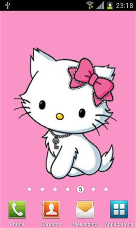wallpaper hello kitty pink android pink hello kitty wallpaper app for android