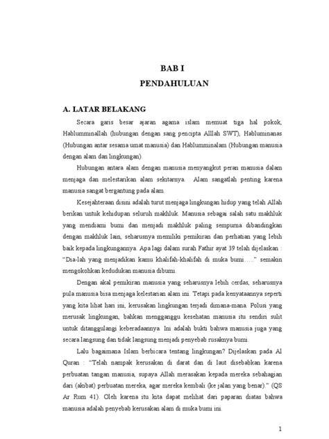 format makalah agama islam makalah agama islam dan lingkungan hidup
