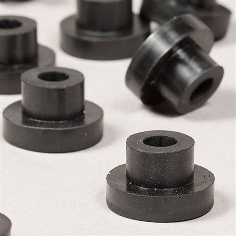 Metric Threaded Rubber Bumpers by Flanged Stem Bushings Rpm Rubber Parts