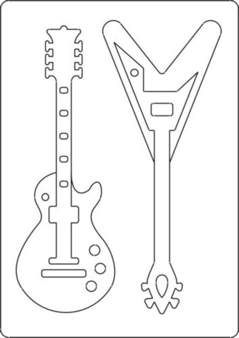 guitar templates a4 size template with style guitar 2 guitars
