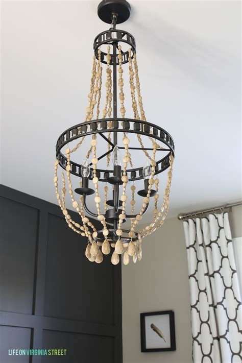 diy bead chandelier diy wood bead chandelier using chalk paint on