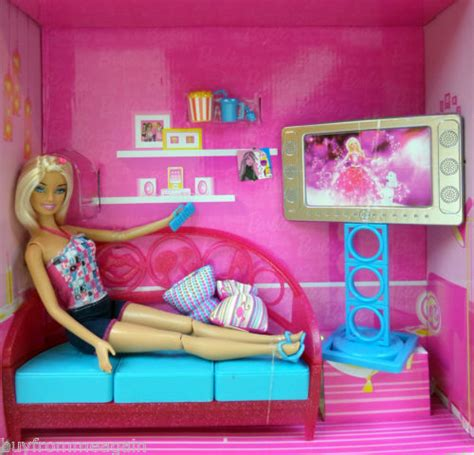 barbie living room barbie living room girls night in doll furniture pink sofa