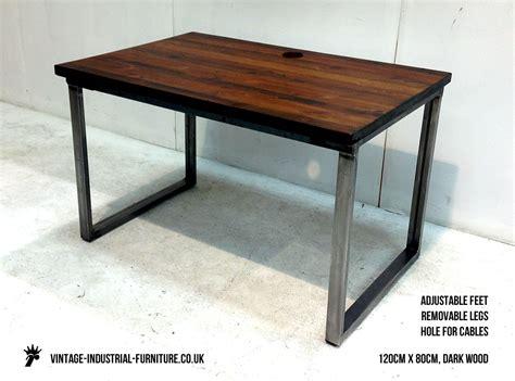 vintage industrial loop leg desk