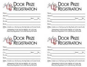 sle registration forms template door prize registration template search results