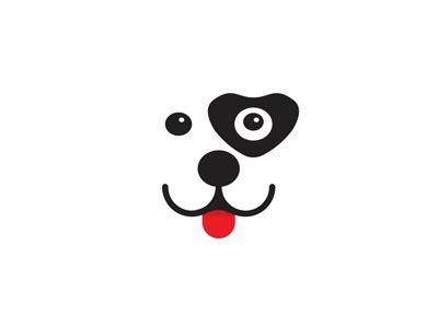 smiling puppy dog heart logo design symbol  alex tass