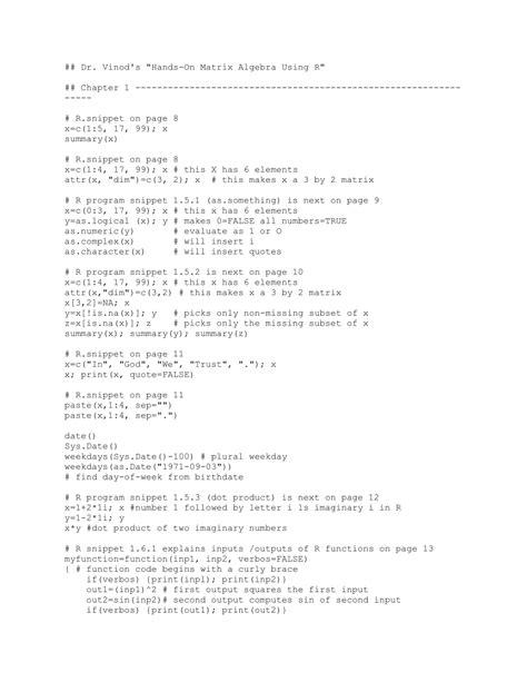 (PDF) Hands-on matrix algebra using R: Active and
