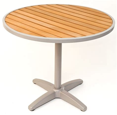 Outdoor Table Top by 24 D Synthetic Teak Outdoor Table Top With Silver Base