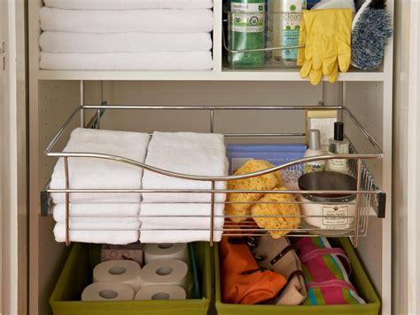 how to organize a closet with shelves organizing a linen closet hgtv