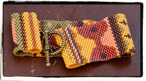 Patchwork Natives - patchwork american peyote beaded bracelet by