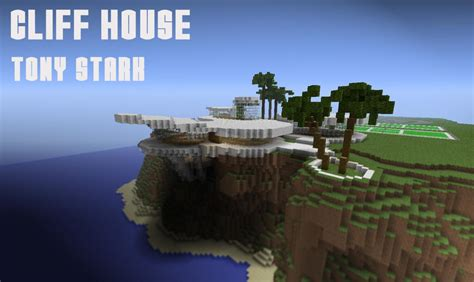 tony stark house pin cliff house tony stark iron man minecraft project on