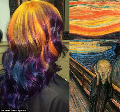 ursula goff dyes hair to look like paintings daily mail