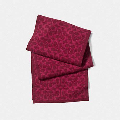 couch scarf coach f86019 logo knit scarf eis coach accessories