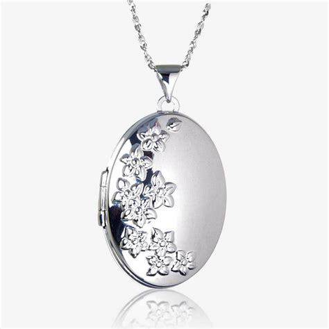 jewelry lockets bethan sterling silver oval locket necklace