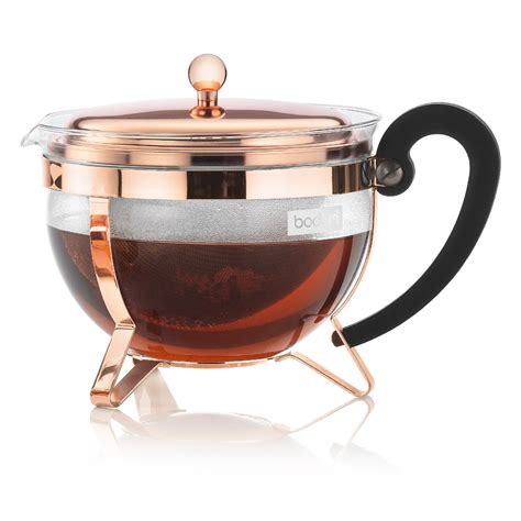 Bodum   Chambord Copper Teapot   Peter's of Kensington