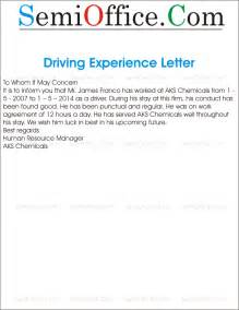 Certification Letter For Driver Experience Letter For Driver