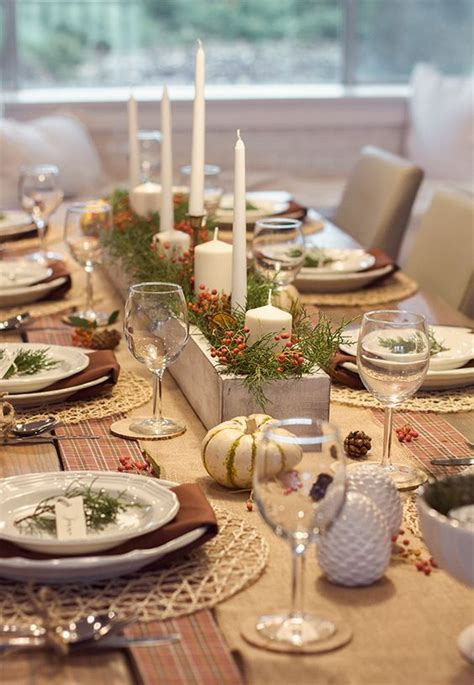 rustic tablescapes our thanksgiving tablescape luv that white wood box
