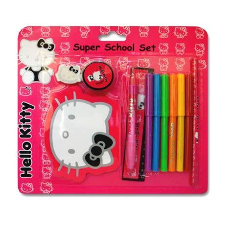Hellokitty Stationery Set hello silhouette school stationery set pen ruler eraser new gift