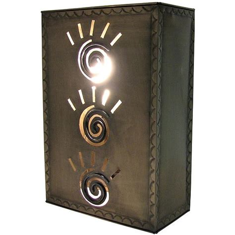 Tin Wall Sconce Mexican Tin Lighting Collection Square Taos Wall Sconce Lamw07