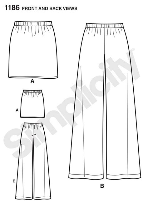 simple pattern for pants 1186 it s so easy skirt and pants pattern includes pull on