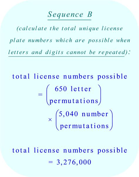pattern in solving numbers without manually computing permutations or combinations