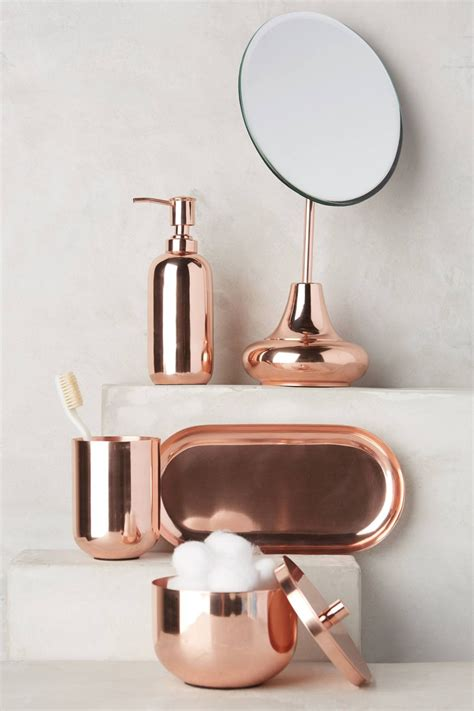 copper room decor high end bathroom accessories with modern style