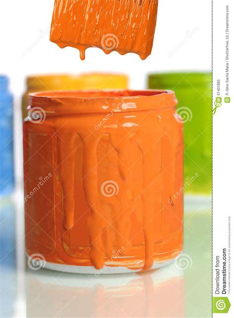 orange paint can of orange paint stock photo image 61401860