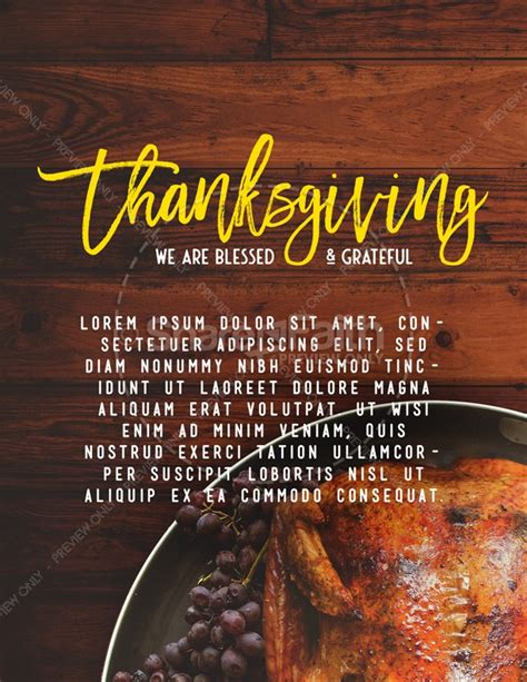 Prayer For Thanksgiving Church Flyer Template Template Flyer Templates Thanksgiving Prayer Template